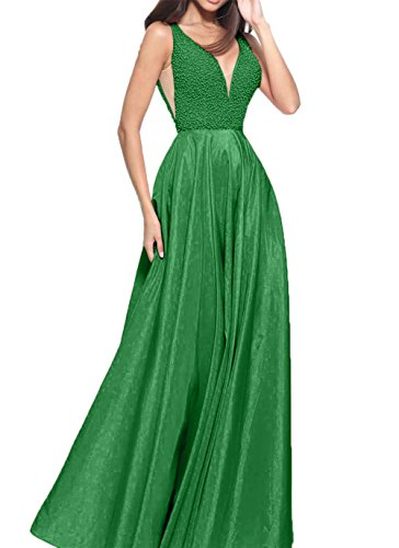 Abendkleider V Partykleider ausschnitt Gruen Perlen Damen Charmant Langes Abschlussballkleider Jaeger Neu w6OqSRnxX