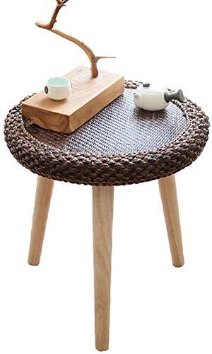 AYHa Mesita, pequeña mesa de mimbre, ratán redonda Mesa de café ...