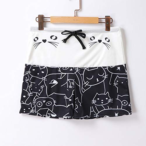 Yoga Leggings 4T, Yoga Leggings Black,Women's Casual Cat Print Drawstring Shorts Leggings by PLENTOP (Image #1)