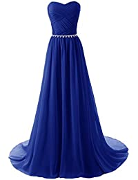 Womens Long Chiffon Bridesmaid Dresses 2018 Prom Gowns AB018