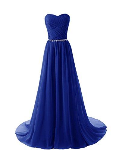long strapless blue multi dress - 4