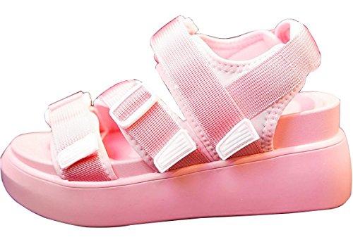 2017 sandalias gruesas de la goma mágica del palisandro nueva del verano marea salvaje de los zapatos de tacón alto 2