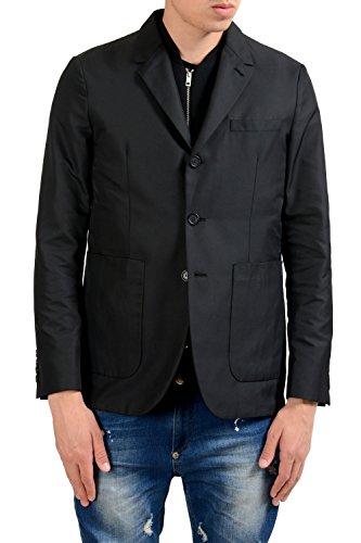 Burberry London Men's Black Built-In Vest Blazer Sport Coat US 36 IT 46 - Burberry Coat Men