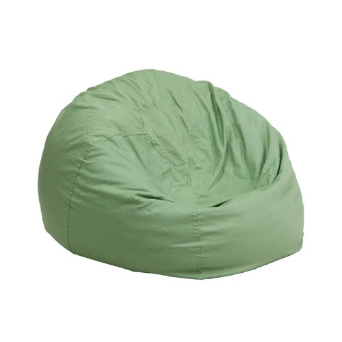 Green Vinyl Bean Bag (Flash Furniture Small Solid Green Kids Bean Bag Chair)