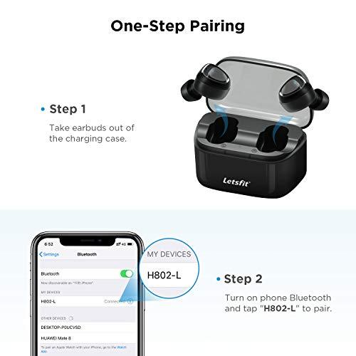 Wireless Earbuds, Letsfit Bluetooth 5.0 Headphones