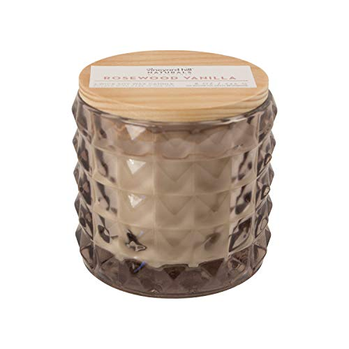 - Vineyard Hill Naturals Faceted Glass 3-Wick Scented Candle, Large, Rosewood Vanilla