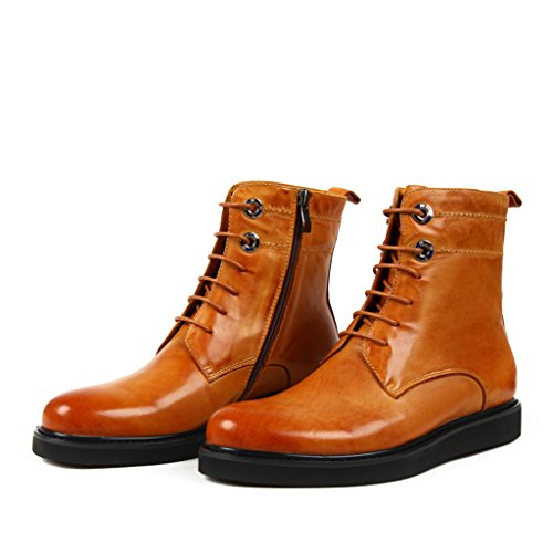 ccdcfeeb482a Herren Lederschuhe Herren Lederstiefel Tide Schuhe Kurze Martin Stiefel  British Style Army Tooling Stiefel Herrenschuhe ...