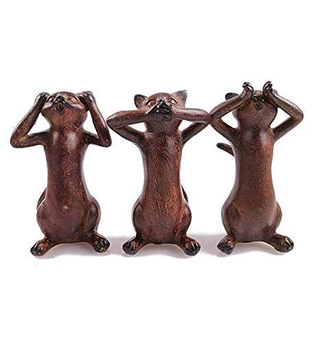 Artesanal Les 3 Gatos de la Sagesse Le Secret du Bonheur ...