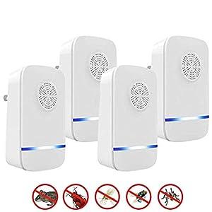 Nitoer Antizanzare Ultrasuoni, 4 Pack Repellente ad Ultrasuoni Antizanzare Dispositivi Anti Zanzare Insetti Ragni Topi… 2 spesavip