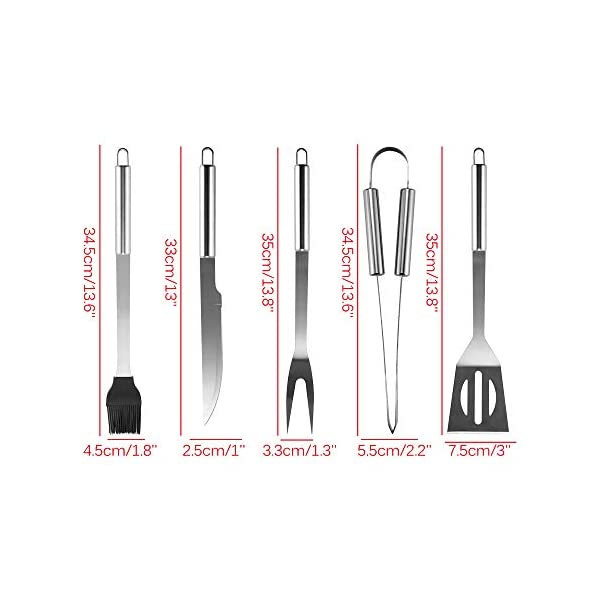 GEVJ BBQ Utensil Camping BBQ Grilling Tools Set Barbecue in Acciaio Inox Accessori per Barbecue Kit di Utensili in… 2 spesavip