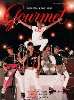 Gourmet Magazine October 2003 Laurent Gras, Suzanne Goin, Eric Ripert, Scott Conant & Dean Fearing Cover