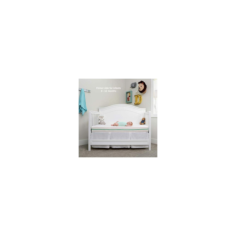 My First Flip Mattress Combination Baby Crib Mattress or Toddler Bed Mattress
