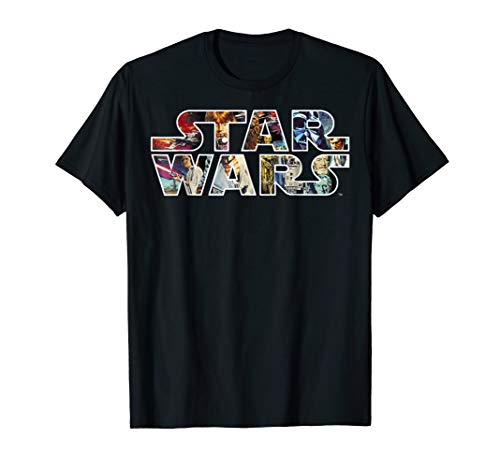 Star Wars Classic Movie Poster Logo Graphic T-Shirt (Classic Logo Poster)