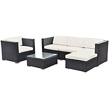 Amazon Tangkula 5 PCS All Weather Wicker Furniture Set Sofas