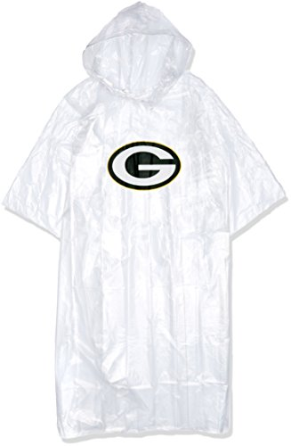 Officially Licensed NFL Green Bay Packers Lightweight Clear Poncho