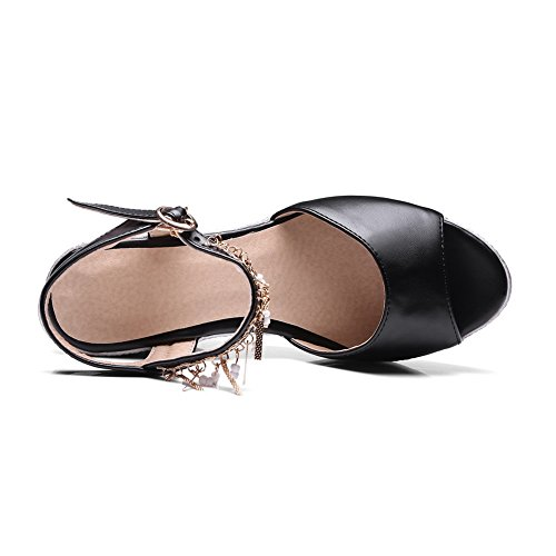 BalaMasa Noir Noir 5 Femme Bout Ouvert ASL05208 36 rXFwZqr1
