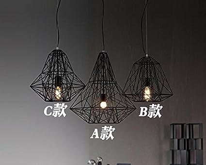 KAI Deckenlampe/Deckenleuchte Pendelleuchte Diamant-Draht-Käfig ...