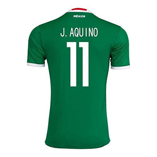 醸造所健康的借りるadidas J. Aquino #11 Mexico Home Jersey Copa America Centenario 2016 - YOUTH/サッカーユニフォーム メキシコ ホーム用 ジュニア向け