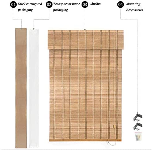 竹製カーテン折りたたみ式竹製カーテン、ローラーブラインド、ベネチアンブラインド、リビングルームバルコニー、ホームオフィスカーテン、屋内および屋外