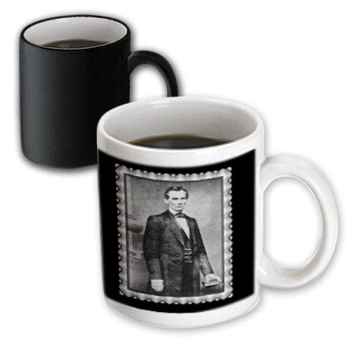 (3dRose Mug The Lincoln Cooper Union Portrait by Mathew Brady February 27,1860 President Abraham Lincoln Photo (mug_160766_3) - 11oz - Transforming, Black/White)