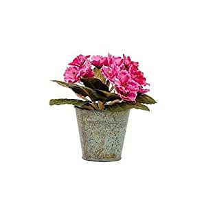"2pc, Artificial African Violet Arrangement in Pink - 6.5"" Tall 75"