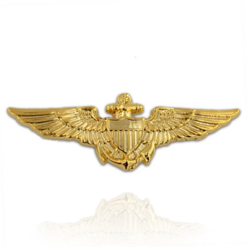 PinMart's Gold Plated US Navy / US Marine Corps Aviator Wing Military Lapel - Us Aviators