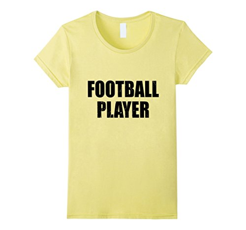 Womens Football Player Halloween Costume Party Cute & Funny T shirt Large Lemon - Female Football Player Costume