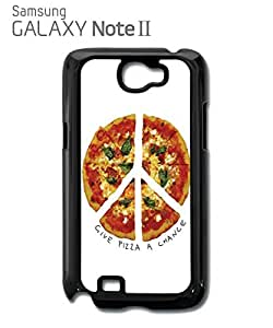 Give Pizza A Chance World Peace Mobile Cell Phone Case Samsung Note 2 Black