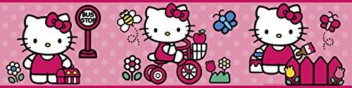- RoomMates Wall Sticker World of HelloKitty Peel & Stick Border RMK1737BCS