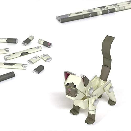 パイプロイド(PIPEROID) アニマルズ 猫 シリーズ シャム - 小学生 から 大人まで 楽しめる 紙工作 クラフトキット - 折り紙 好きの 男の子や 女の子にも [並行輸入品]