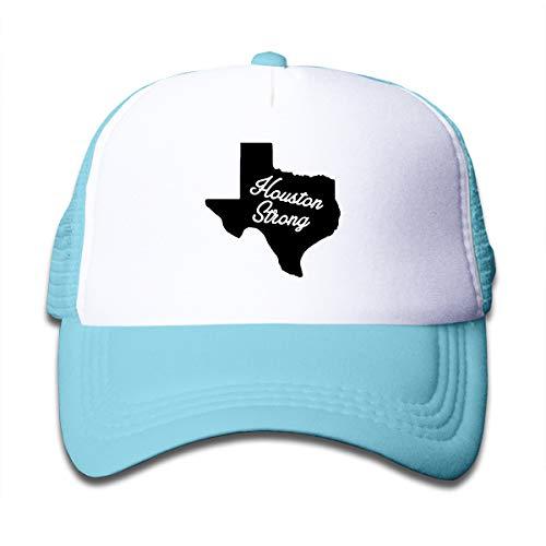 Banana King Houston Strong Toddler Baby Boy Girl Baseball Summer Mesh Cap Trucker Hats for Boys Girls Sky Blue]()