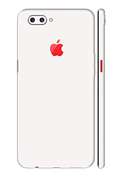 low priced 71ec7 46e36 GADGETS WRAP Oppo A3s Jet White Glossy Apple Logo: Amazon.in ...
