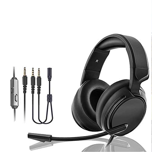 Wired Gaming Headset, E-sports Game Headphones 3.5MM Plug Diameter Head-Mounted Volume Control with Rotatable Noise…