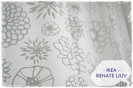 Ikea RENATE LJUV thin sheer pair of curtains 2 panels 57x98 \