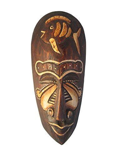 Belonging, Hand Carved 8 inch Wooden African Mask Wood Carved Folk Art