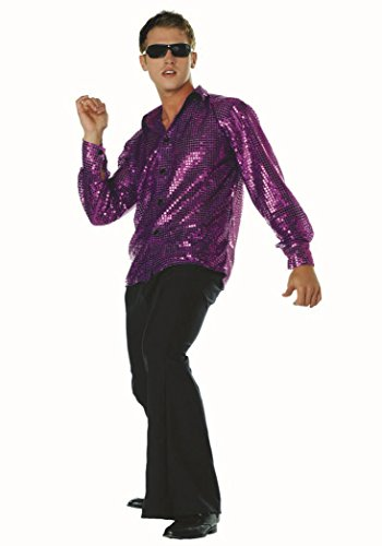 [Plus Size Disco Inferno Shirt Only] (70s Costumes For Couples)