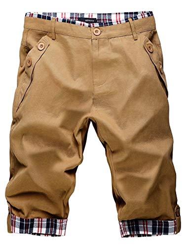 Quadretti Al Tasche Da Kahki Ginocchio Moda Pantaloni 1 2 Casual Quadri Pantaloncini Con Sportivi Bermuda Uomo Vintage Ragazzo A 5Z0qxSX1n