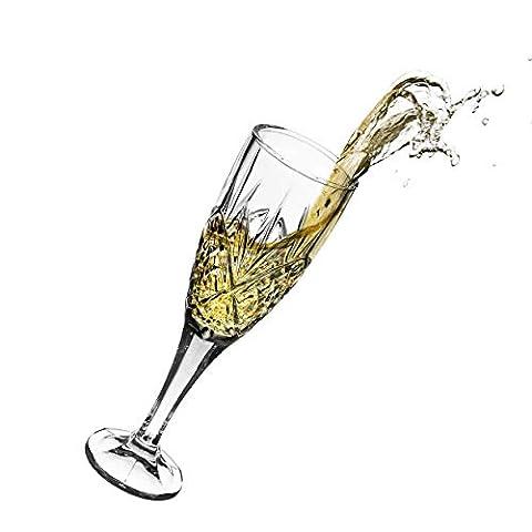 Godinger Dublin Crystal Champagne Flutes – Set of 4
