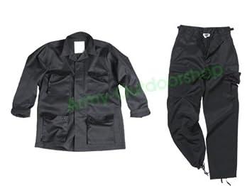 BDU - US quemador Traje Negro Chaqueta + Pantalón Talla:S ...
