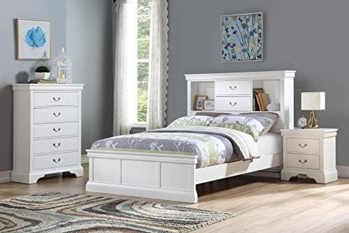 Esofastore Classic Modern Bedroom Furniture 4pc Set Queen Size Bed Dresser Mirror Nightstand Grey Color Birch Veneer Wood Bedroom Sets Bedroom Furniture Amaltheiayada Gr