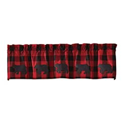 Park Designs Buffalo Check Bear Valance,...