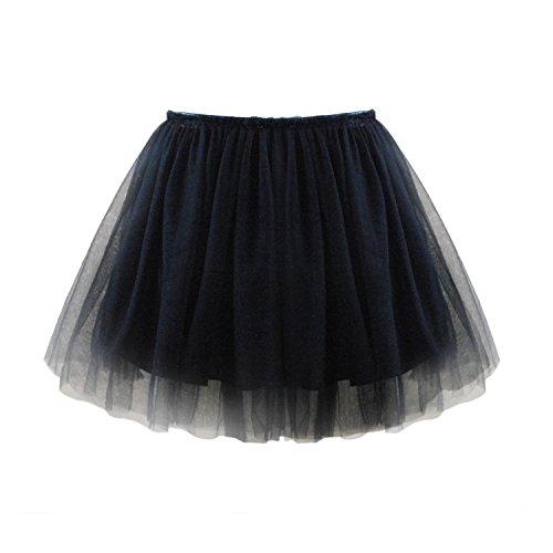 Flower Little Girls'Tulle Tutu Skirt Black Size (Kids Skirt)