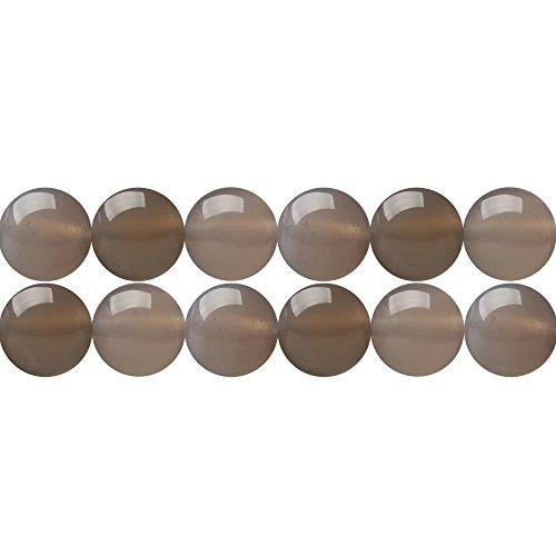 Natural Gray Agate Stone Round 8mm Beads for Women Necklace Bracelet Earrings Jewelry DIY Making Supply Sold by One Strand 15 Inch Apx 46 Pcs Jewelry Bracelets And Earrings Online