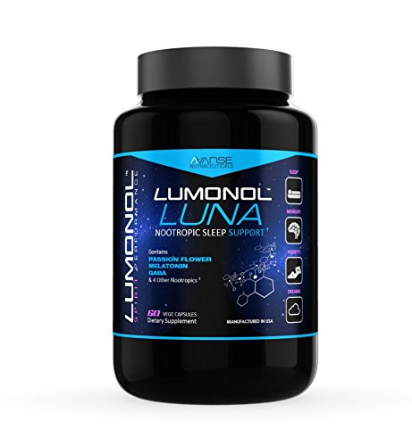 Lumonol Luna  60Ct   A Nootropic Sleep Aid Formula Designed To Send You Into A State Of Sleep At Night  Lunas Brain Boosting Nootropics Leave You Waking Up Fresh  Sharp  And Alert