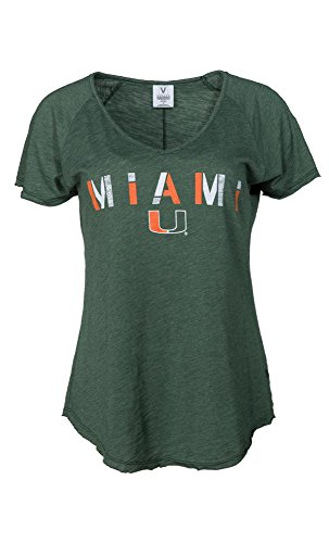 Official NCAA University of Miami Hurricanes The U UM U of M Canes Women's Tommy V-Neck (Miami Hurricanes Womens Jerseys)