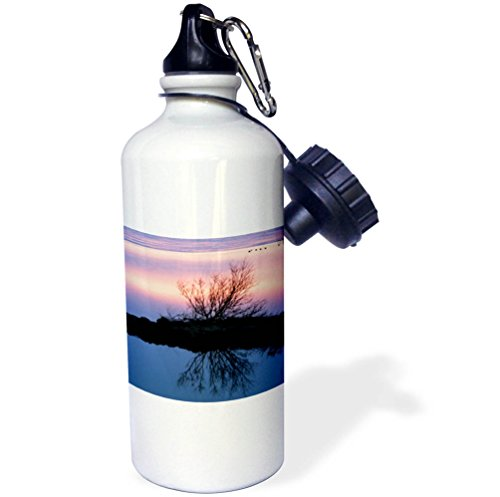 3dRose Danita Delimont - Lakes - Iceland, Lake Myvatn, Reykjahlio. Sunset reflected in a tundra pond. - 21 oz Sports Water Bottle (wb_277509_1) by 3dRose