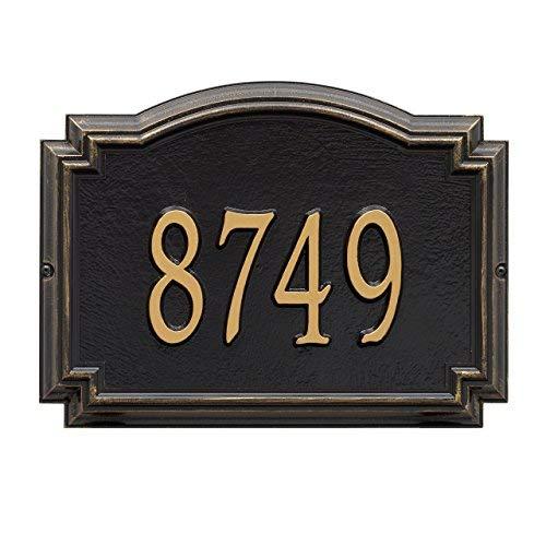 Customized 1 Line Williamsburg Wall Aluminum Address Plaque 14''W x 10.25''H