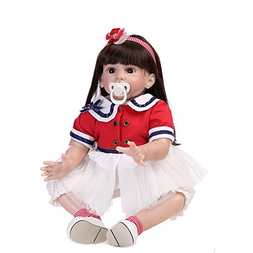 Amazon.com: oumeinuo 23 inch 23.6 inch bebé Reborn niña ...