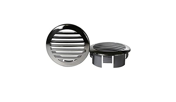 "Boat Marine 3/"" Stainless Steel Clad Airflow Vent 3.5/"" Diameter 3.25/"" Cutout"