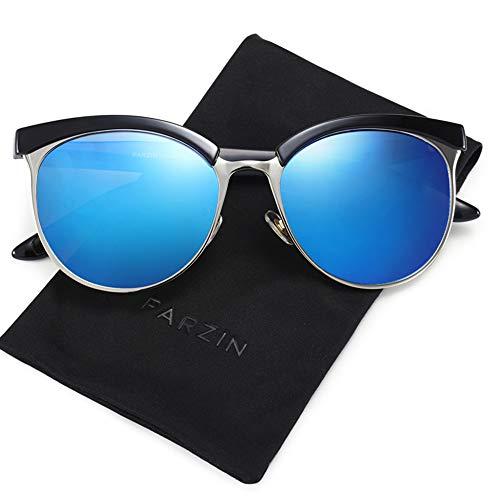 547b686d21 Polarized Sunglasses Semi Rimless PARZIN Women Vintage Cateye Eyewear